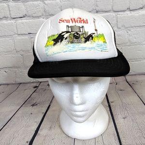 Vintage 1987 Sea World Sportcap Snapback Hat Cap